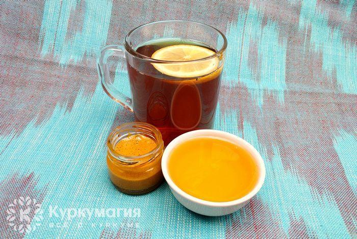 Чай с медом и куркумой