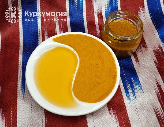 розетка инь-янь с медом и куркумой
